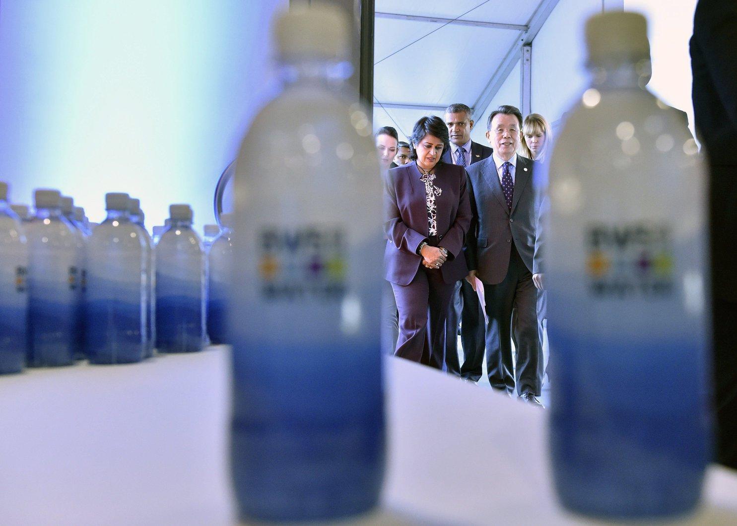 Palackozott vizünk a Budapesti Víz Világtalálkozón